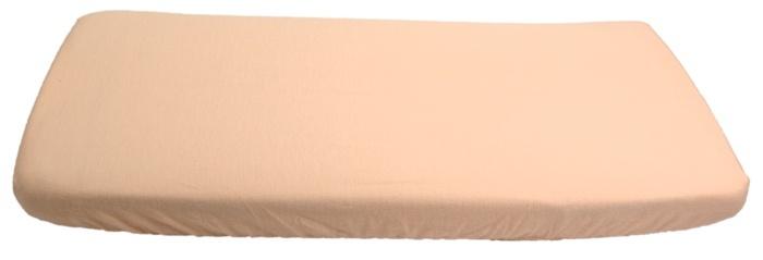 KAARSGAREN-Flanelové prostěradlo meruňkové 70 x 160 cm