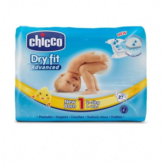 CHICCO Plenky Newborn 27 ks (2-5 kg) – jednorázové pleny