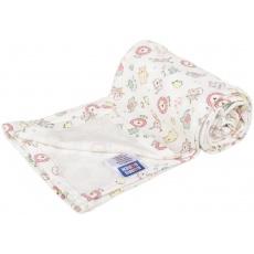 KAARSGAREN-Letní deka 70x100cm bavlna růžová zvířátka