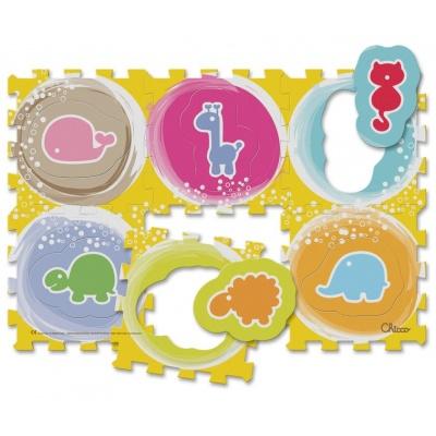 Chicco Hračka puzzle pěnové Zvířátka 30x30 cm, 6 ks