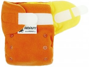 Anavy-Novorozenecké flísáčky na suchý zip-skořice/citron