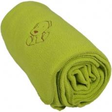 KAARSGAREN-Dětská flísová deka s pejskem zelená