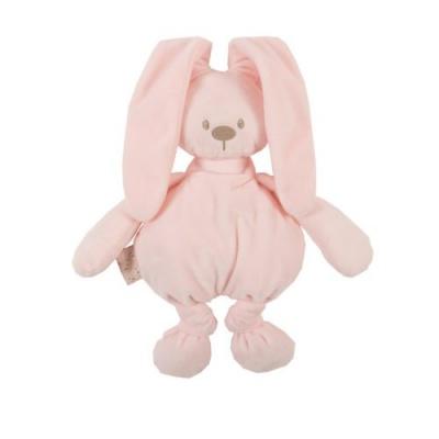 Nattou Hračka plyšová zajíček Lapidou cuddly pink 36 cm