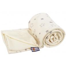 KAARSGAREN-Dětská merino deka bio šedé hvězdičky