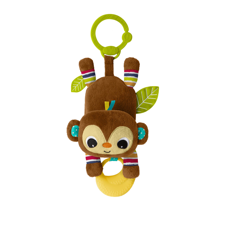 Bright Starts Hračka na C kroužku Banana tantrum opička 0m+