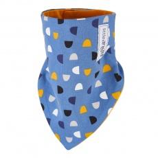 Little Angel-Šátek na krk podšitý Outlast® - denim/žlutooranžová Velikost: uni