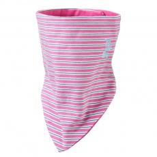 Little Angel-Šátek tenký oboustranný Outlast® - pruh růžovozelený/tm.růžová Velikost: uni