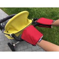 KAARSGAREN-Červené rukavice na kočárek biobavlna