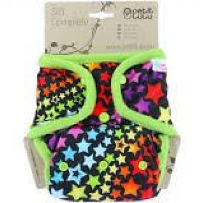 Petit Lulu-Svrchní kalhotky jednovelikostní-Duhové hvězdy PAT