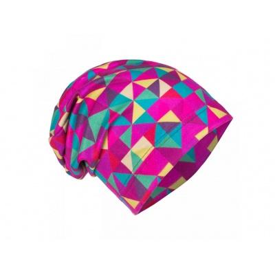 UNUO-Fleecová čepice Triangl holka