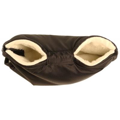 KAARSGAREN-Merino rukávník černý z ovčí vlny