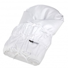 Little Angel-Povlak na zavinovačku šněrovací pevná záda Outlast® - bílá