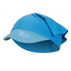 Little Angel-Šátek tenký kšilt Outlast® - modrá/pruh modrožlutý Velikost: 3, 42-44 cm