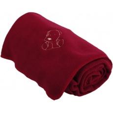 KAARSGAREN-Dětská flísová deka s pejskem vínová