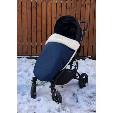 KAARSGAREN-Tmavomodrá zimní merino deka nepadací
