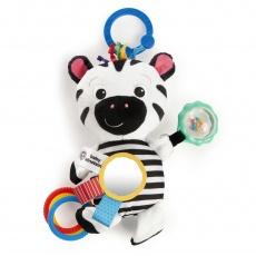 BABY EINSTEIN Hračka aktivní na C kroužku ZEN zebra 0m +