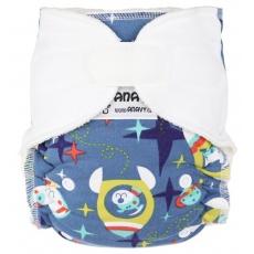 Anavy-Jednovelikostní kalhotková plena suchý zip Pejsek kosmonaut 2016