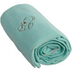 KAARSGAREN-Dětská flísová deka s pejskem mentolová