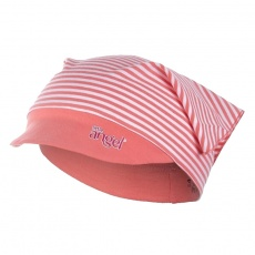 Little Angel-Šátek tenký kšilt Outlast® - pruh broskvový Velikost: 6, 51-53 cm