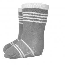 Little Angel-Ponožky STYL ANGEL - Outlast® - tm.šedá/bílá Velikost: 15-19 | 10-13 cm