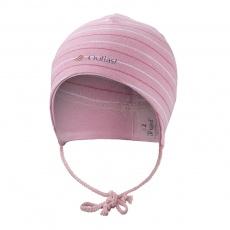 Little Angel-Čepice smyk zavazovací Outlast ® - pruh stř.růžový Velikost: 3 | 42-44 cm