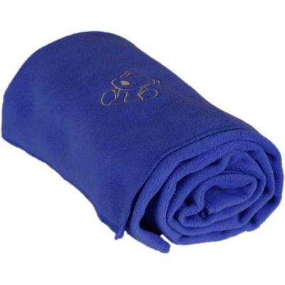KAARSGAREN-Dětská flísová deka s pejskem tmavomodrá