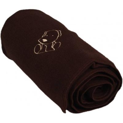 KAARSGAREN-Dětská flísová deka s pejskem hnědá