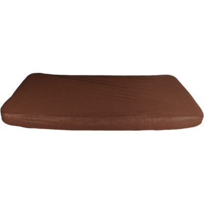 KAARSGAREN-2v1 Hnědé prostěradlo 100x200cm a chránič matrace