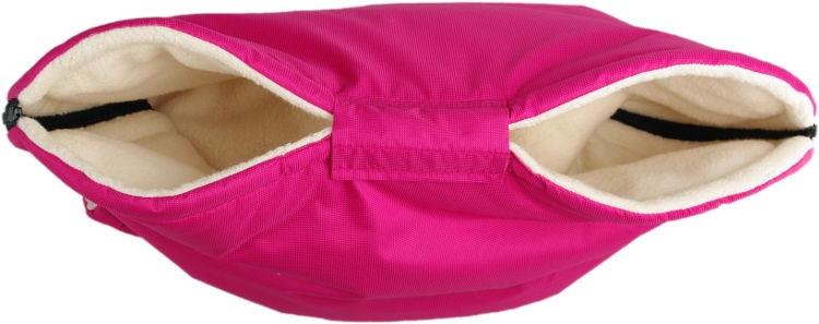 KAARSGAREN-Růžový rukávník s beránkem z biobavlny