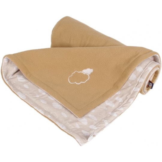 KAARSGAREN-Dětská deka béžová obláčky fleece bavlna