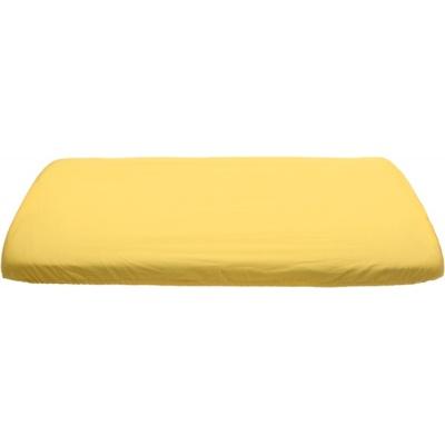 KAARSGAREN-Žluté prostěradlo bavlněné plátýnko 70 x 140 cm