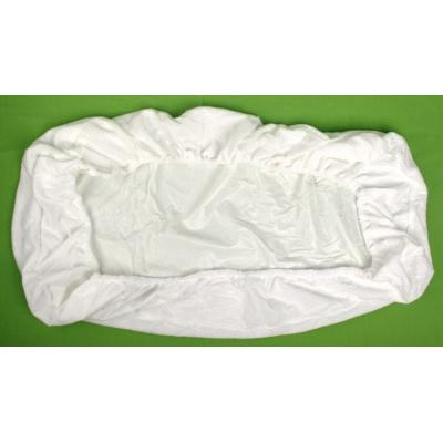 KAARSGAREN-Nepropustné prostěradlo 80x200cm bílé froté bavlna