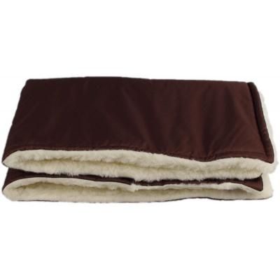 KAARSGAREN-Hnědá zimní deka merino