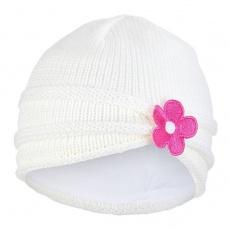 Little Angel-Čepice pletená kytka Outlast ® - natur Velikost: 4 | 45-48 cm