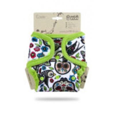 Petit Lulu-Svrchní kalhotky jednovelikostní pat-Mexické lebky na bílé