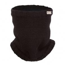 Little Angel-Nákrčník pletený hladký Outlast ® - černá Velikost: 5   49-53 cm