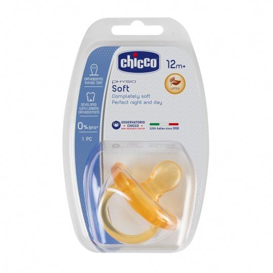 CHICCO Šidítko Physio Soft celokaučukové (12 m+)