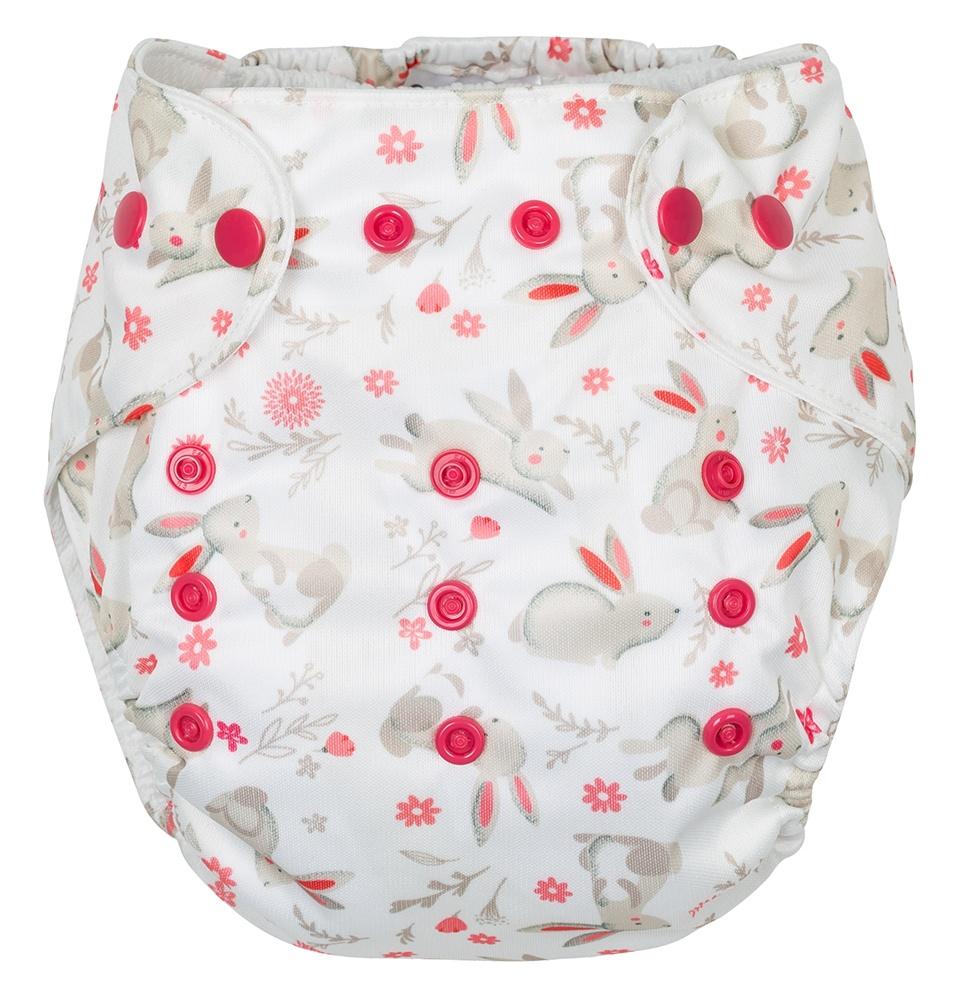 Gmini Kalhotky plenkové s potiskem růžová zajíčci UNI 3e7596ce99