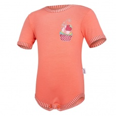 Little Angel-Body tenké KR obrázek Outlast® - tm.coral/pruh tm.coral Velikost: 86