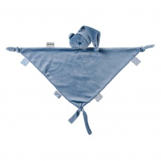 NATTOU Maxi mazlíček medvídek Lapidou 100% recycled dark blue 65cmx40cm
