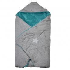 Little Angel-Zavinovačka multifunkční MAZLÍK Outlast® - šedá/mentolová