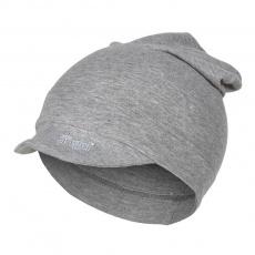 Little Angel-Kšiltovka smyk dlouhá Outlast® - šedý melír Velikost: 4 | 45-48 cm