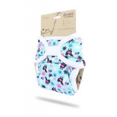 Petit Lulu-Svrchní kalhotky jednovelikostní-Tukani-bílý lem