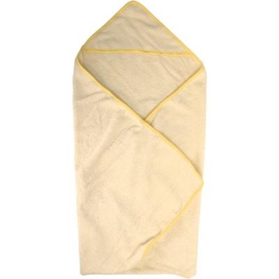 KAARSGAREN-Bio osuška s kapucou se žlutým lemováním