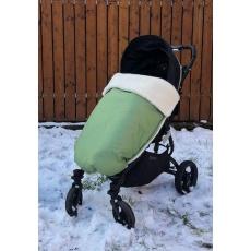 KAARSGAREN-Zelená zimní merino deka nepadací