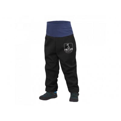 UNUO-Batolecí softshellové kalhoty s fleecem černé+ REFLEXNÍ OBRÁZEK EVŽEN