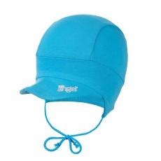 Little Angel-Kšiltovka tenká zavazovací Outlast® - azurově modrá Velikost: 1 | 36-38 cm