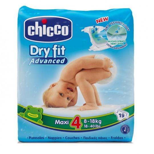 CHICCO Plenky jednorázové Maxi (8-18 kg) 19 ks