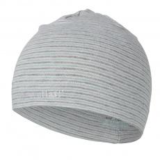 Little Angel-Čepice smyk natahovací PRUH Outlast ® - pruh lišejník šedý melír Velikost: 5   49-53 cm