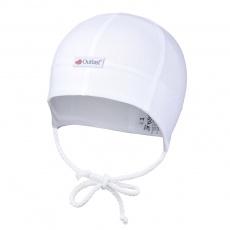 Little Angel-Čepice tenká zavazovací plochý šev Outlast® - bílá Velikost: 1 | 36-38 cm